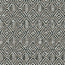 Ugepa Hexagone L60601  geometrikus 3D koncentrikus hatszögek bézs fekete ezüst szürke tapéta