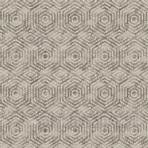 Ugepa Hexagone L60608  geometrikus 3D koncentrikus hatszögek bézs barna ezüst tapéta
