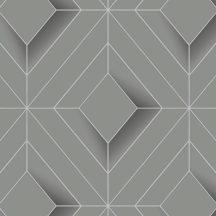 Ugepa Galactik L61409 Geometrikus 3D rombuszok szürke antracit ezüst fémes hatás tapéta