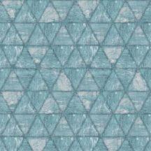 Ugepa Hexagone L61701 hatszöget formáló háromszögek kék szürke ezüst tapéta