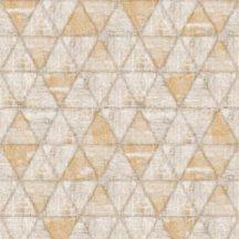Ugepa Hexagone L61708 hatszöget formáló háromszögek bézs barna sárga tapéta