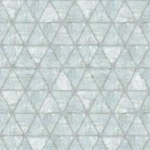 Ugepa Hexagone L61709  hatszöget formáló háromszögek szürke szürkéskék ezüst tapéta