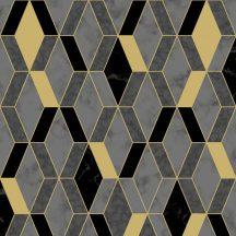 Ugepa Hexagone L63809 3D rombuszok márvány szürke arany fekete tapéta