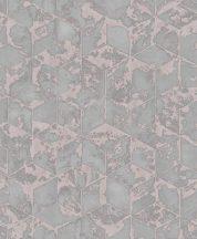 Ugepa Reflets L75405 Geometrikus 3D kockák halmaza szürke és rózsaszín árnyalatok tapéta