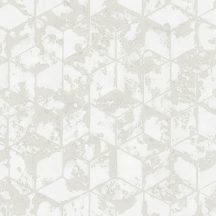 Ugepa Reflets L75409  Geometrikus 3D kockák halmaza szürke és fehér árnyalatok tapéta