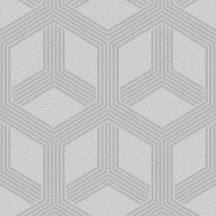 Ugepa Galactik L84209 Geometrikus 3D hatszögek/nyitott kockák szürke ezüst csillogó mintafelület tapéta
