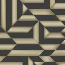 Ugepa Galactik L85809 Geometrikus design 3D fekete arany fényes mintafelület tapéta