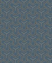 Ugepa ONYX M26201 Geometrikus Grafikus Absztrakt minta kék barna fekete tapéta