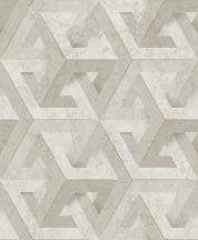 Ugepa ONYX M34707 Geometrikus Grafikus márvány alapmintán változatos háromszögek krémszürke bézs szürkésbézs arany tapéta