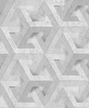 Ugepa ONYX M34719 Geometrikus Grafikus márvány alapmintán változatos háromszöge szürke árnyalatok ezüst tapéta