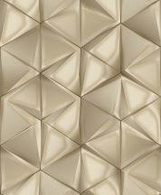 Ugepa ONYX M34907 Geometrikus Grafikus 3D hatszöget formáló háromszögek bézs barna arany tapéta