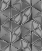 Ugepa ONYX M34909 Geometrikus Grafikus 3D hatszöget formáló háromszögek szürke antracit ezüst tapéta