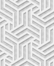 """Ugepa ONYX M35000 Grafikus """"labirintus"""" minta 3D szürke ezüst fehér fénylő mintafelület tapéta"""