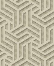 """Ugepa ONYX M35002 Grafikus """"labirintus"""" minta 3D szürke bézs barna arany fénylő mintafelület tapéta"""