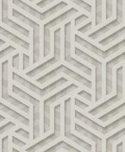 """Ugepa ONYX M35007 Grafikus """"labirintus"""" minta 3D szürke szürkésbézs ezüst fénylő mintafelület tapéta"""