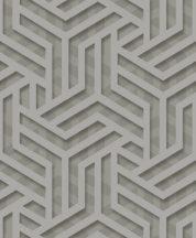 """Ugepa ONYX M35009 Grafikus """"labirintus"""" minta 3D szürke sötétszürke ezüst fénylő mintafelület tapéta"""