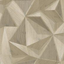 """Ugepa ONYX M35107 Geometrikus Natur 3D """"fából faragott"""" absztrakt minta bézs barna árnyalatokfekete tapéta"""