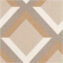 """Geometrikus 3D """"koncentrikus"""" négyzetek krém bézs szürke szürkésbézs fémes arany tapéta"""