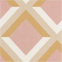 """GROOVE Geometrikus 3D """"koncentrikus"""" négyzetek krémfehér rózsaszín bézs sárga tapéta"""