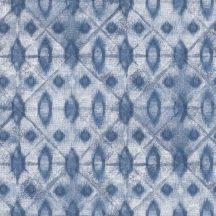 Grandeco MYRIAD MY3002  Klasszikus batik díszítőminta fehér kék tapéta