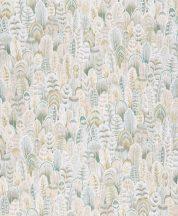 Grandeco OPUS OS3107  Natur szines tollak krém bézs világos zöldeskék tapéta