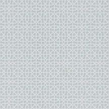 Grandeco OPUS OS3307 Geometrikus hálózatminta kis méretű váltakozó sokszögekből halvány szürkéskék fehér tapéta