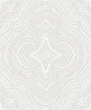 Decoprint Sphere SE20510 etno damaszt keleti díszítőminta fehér szürke tapéta