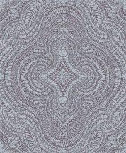 Decoprint Sphere SE20512  etno damaszt keleti díszítőminta szürke lila/bordó tapéta
