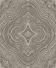 Decoprint Sphere SE20513  etno damaszt keleti díszítőminta ezüstszürke antracit tapéta