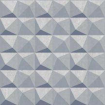 Decoprint Urban Concrete UC21332  Geometrikus három és négyszögek krémszürke szürke árnyalatok szürkéskék kék tapéta