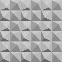 Decoprint Urban Concrete UC21333  Geometrikus három és négyszögek krémszürke szürke árnyalatok fekete tapéta