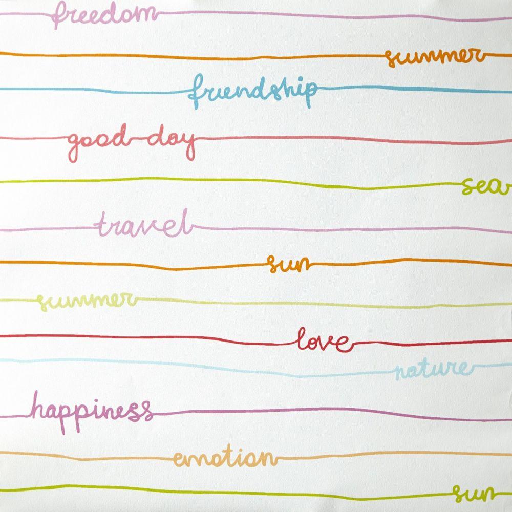 Caselio OH LA LA 66245040 Stripe Words tapéta