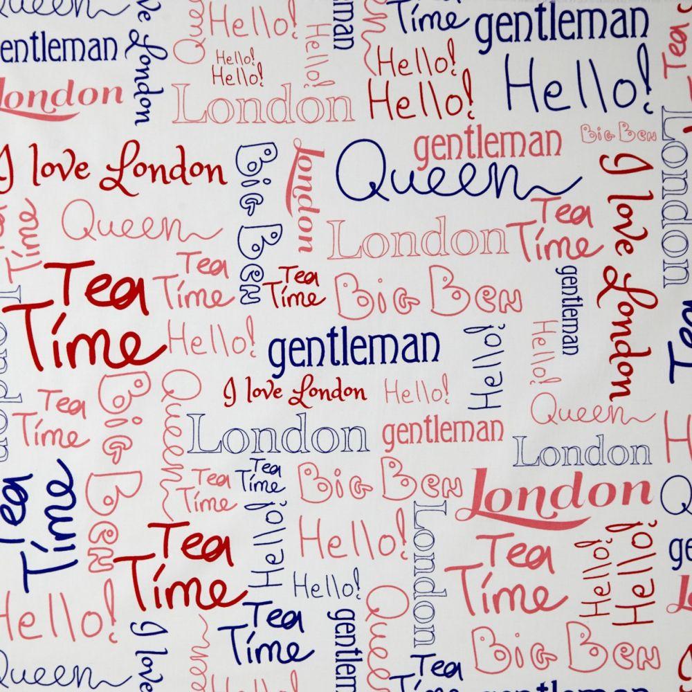 Caselio OH LA LA 66358080 Wording London  függöny